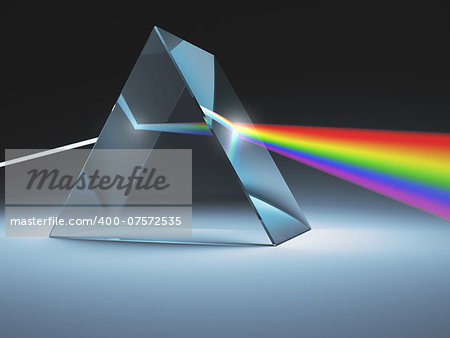 The crystal prism disperses white light into many colors. Stock Photo - Budget Royalty-Free, Image code: 400-07572535