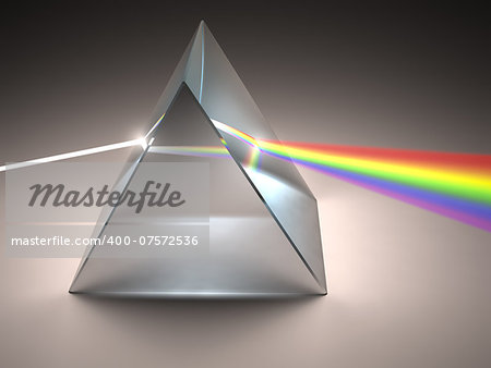 The crystal prism disperses white light into many colors. Stock Photo - Budget Royalty-Free, Image code: 400-07572536