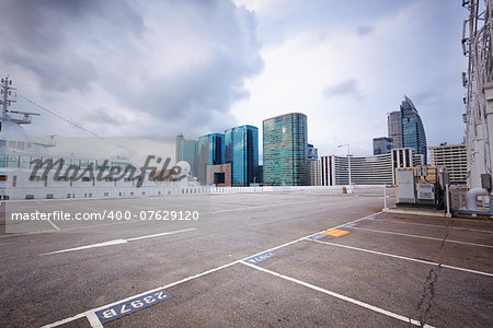 large numbered space parking lot Stock Photo - Budget Royalty-Free, Image code: 400-07629120