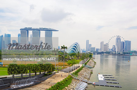 Singapore city skyline at day Stock Photo - Budget Royalty-Free, Image code: 400-07634367