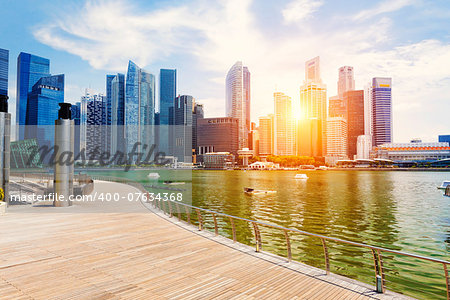Singapore city skyline at day Stock Photo - Budget Royalty-Free, Image code: 400-07634368