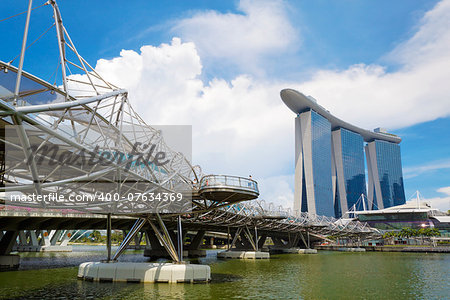 Singapore city skyline at day Stock Photo - Budget Royalty-Free, Image code: 400-07634369