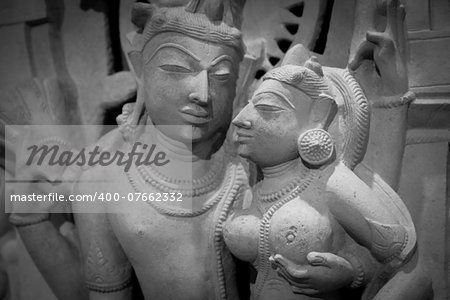 Indian lovers in tantric position, north-west India original manufact, 10-11 century Stock Photo - Budget Royalty-Free, Image code: 400-07662332