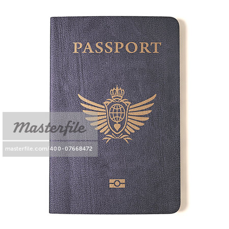 Passport on a white background. Clipping path included. Stock Photo - Budget Royalty-Free, Image code: 400-07668472