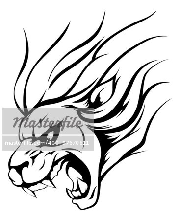 An illustration of a strong angry lion mascot roaring Stock Photo - Budget Royalty-Free, Image code: 400-07670611