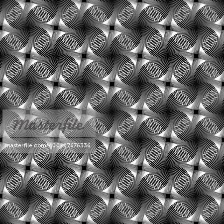 Design seamless monochrome grid decorative pattern. Abstract diagonal background. Vector art