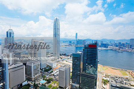 Hong Kong , Modern Buildings in finance district Stock Photo - Budget Royalty-Free, Image code: 400-07676821