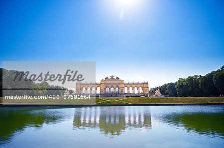 AUSTRIA, VIENNA - AUGUST 4, 2013: The Gloriette in Schoenbrunn Palace Garden, Vienna, Austria Stock Photo - Budget Royalty-Free, Image code: 400-07681664