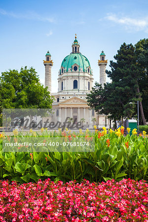St. Charles's Church (Karlskirche) in Vienna, Austria Stock Photo - Budget Royalty-Free, Image code: 400-07681674