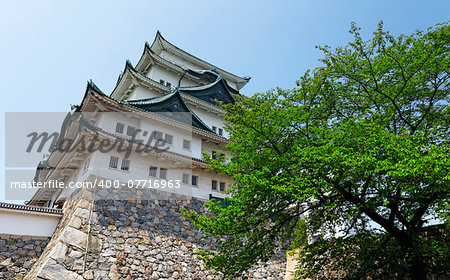 "Nagoya castle atop with golden tiger fish head pair called ""King Cha Chi"", Japan Stock Photo - Budget Royalty-Free, Image code: 400-07716963"