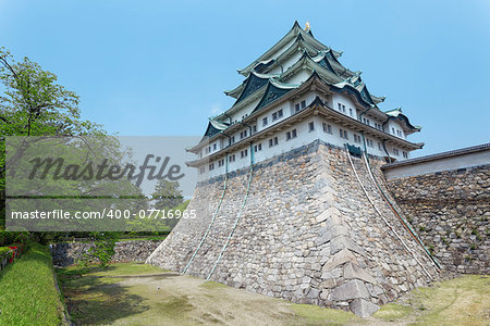"Nagoya castle atop with golden tiger fish head pair called ""King Cha Chi"", Japan Stock Photo - Budget Royalty-Free, Image code: 400-07716965"