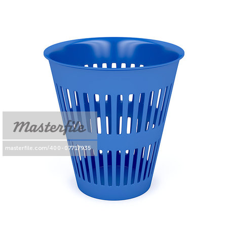 Trash can on white background Stock Photo - Budget Royalty-Free, Image code: 400-07717935