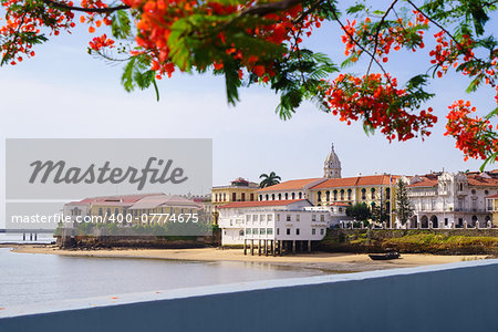 Tourist attractions and destination scenics. View of Casco Antiguo in Panama City Stock Photo - Budget Royalty-Free, Image code: 400-07774675