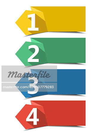 Vector design template with color numbered banners Stock Photo - Budget Royalty-Free, Image code: 400-07779283