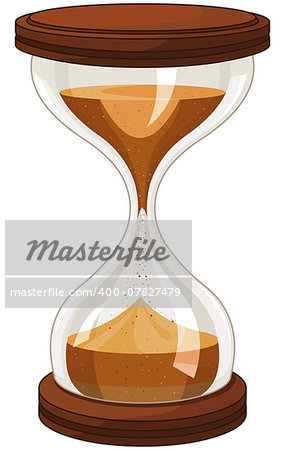 Illustration of sand clock Stock Photo - Budget Royalty-Free, Image code: 400-07827479