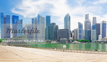 Singapore city skyline at day asia famous downtown Stock Photo - Budget Royalty-Free, Image code: 400-07892825