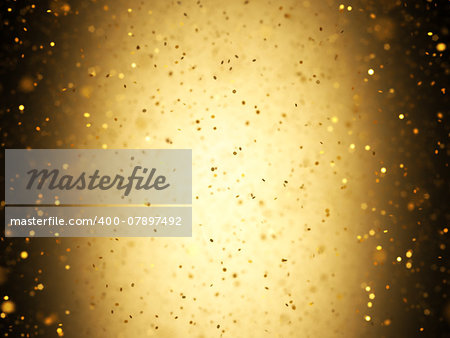 Illuminated background with gold confetti falling with depth of field. Stock Photo - Budget Royalty-Free, Image code: 400-07897492