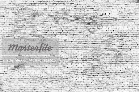 Texture of white brick wall Stock Photo - Budget Royalty-Free, Image code: 400-07919615