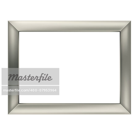 simple silver metal frame isolated on the white background Stock Photo - Budget Royalty-Free, Image code: 400-07953964