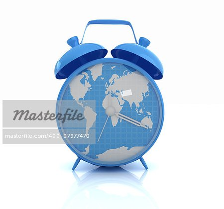 Clock of world map Stock Photo - Budget Royalty-Free, Image code: 400-07977470
