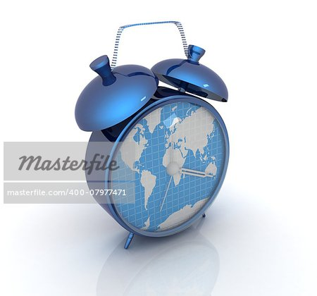 Clock of world map Stock Photo - Budget Royalty-Free, Image code: 400-07977471
