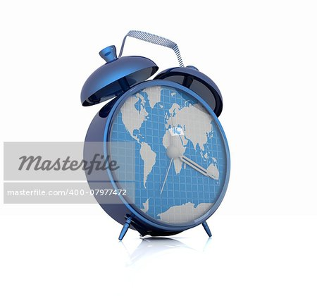 Clock of world map Stock Photo - Budget Royalty-Free, Image code: 400-07977472