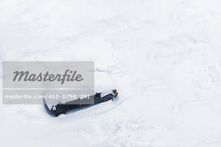 Car Trapped in Deep Snow Build-up after a Blizzard or Big Snow Storm Stock Photo - Budget Royalty-Free, Image code: 400-07980391