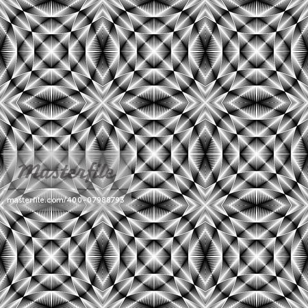 Design seamless trellised pattern. Abstract geometric monochrome background. Vector art. No gradient