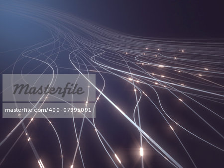 Abstract background in a concept of optical fiber. Stock Photo - Budget Royalty-Free, Image code: 400-07995091
