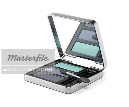 Eye shadow and applicator brush Stock Photo - Budget Royalty-Free, Image code: 400-07995794