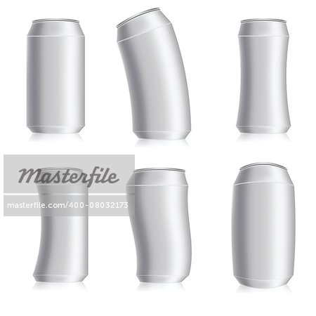 illustration  with drink can set on white background Stock Photo - Budget Royalty-Free, Image code: 400-08032173