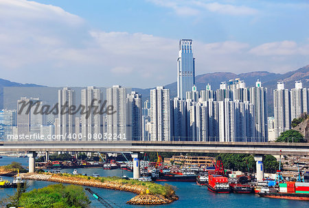 Cityscape of modern buildings and railway in city center, Kuala Lumpur, Malaysia Stock Photo - Budget Royalty-Free, Image code: 400-08032241