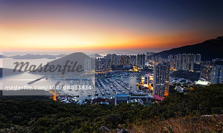 Typhoon Shelters in hong kong aberdeen Stock Photo - Budget Royalty-Free, Image code: 400-08033834