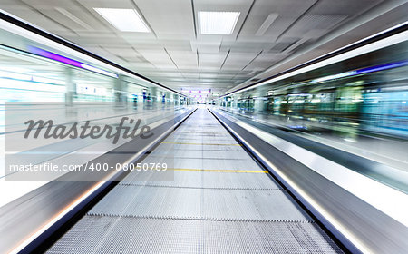symmetric moving blue escalator inside contemporary airport, hong kong Stock Photo - Budget Royalty-Free, Image code: 400-08050769