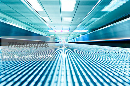 symmetric moving blue escalator inside contemporary airport, hong kong Stock Photo - Budget Royalty-Free, Image code: 400-08050770