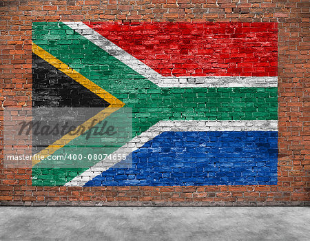 Flag of Republic of South Africa and part of foreground Stock Photo - Budget Royalty-Free, Image code: 400-08074655