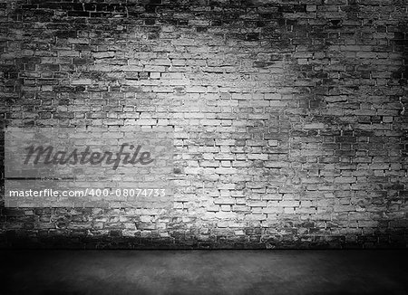 white murky brick wall texture with foreground Stock Photo - Budget Royalty-Free, Image code: 400-08074733