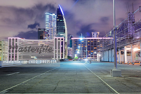 Empty car park at night Stock Photo - Budget Royalty-Free, Image code: 400-08115614