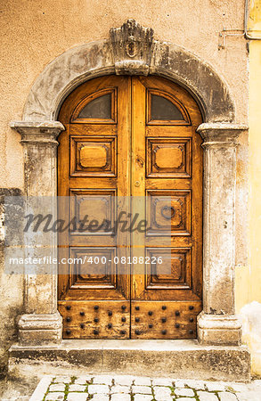 italian door in a small village, Italy Stock Photo - Budget Royalty-Free, Image code: 400-08188226