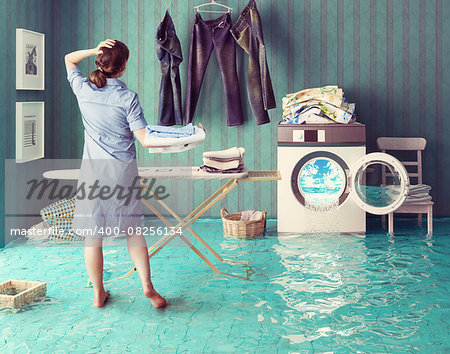 Housewife dreams. Creative concept. Photo combination Stock Photo - Budget Royalty-Free, Image code: 400-08256134