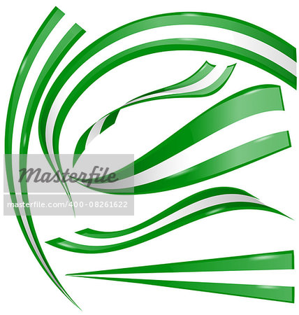 nigeria flag set on white background Stock Photo - Budget Royalty-Free, Image code: 400-08261622
