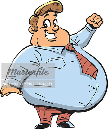Happy Fat Man with Big Smile Stock Photo - Budget Royalty-Free, Image code: 400-08264136