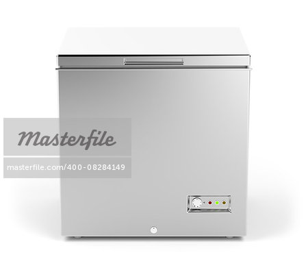 Small chest freezer in silver color Stock Photo - Budget Royalty-Free, Image code: 400-08284149