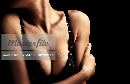 Beautiful sexy female body, healthy breast, beauty and health care concept Stock Photo - Budget Royalty-Free, Image code: 400-08299233