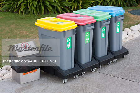 Colorful Recycle Bins photo Stock Photo - Budget Royalty-Free, Image code: 400-08371561