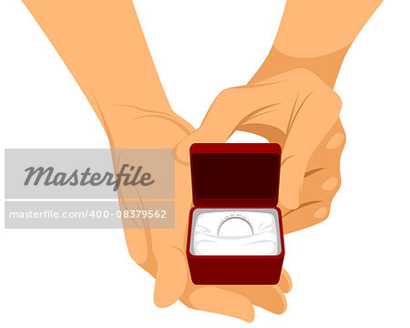 Vector illustration of a hands with ring Stock Photo - Budget Royalty-Free, Image code: 400-08379562