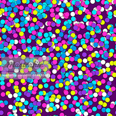 Seamless Pattern of Colorful confetti. Celebration holiday vector background