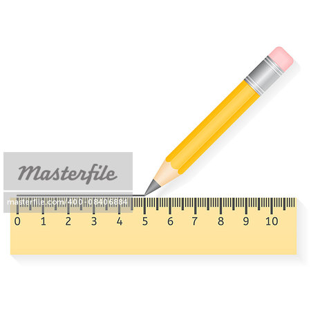 Vector illustration of drawing pencil and ruler Stock Photo - Budget Royalty-Free, Image code: 400-08406884