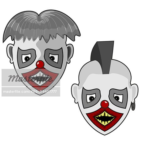 two scary facial hair and a little punk for your use Stock Photo - Budget Royalty-Free, Image code: 400-08407777