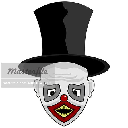 scary face with a tall hat for you Stock Photo - Budget Royalty-Free, Image code: 400-08407778